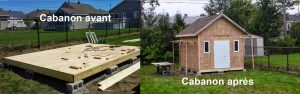 Construction de cabanon Québec