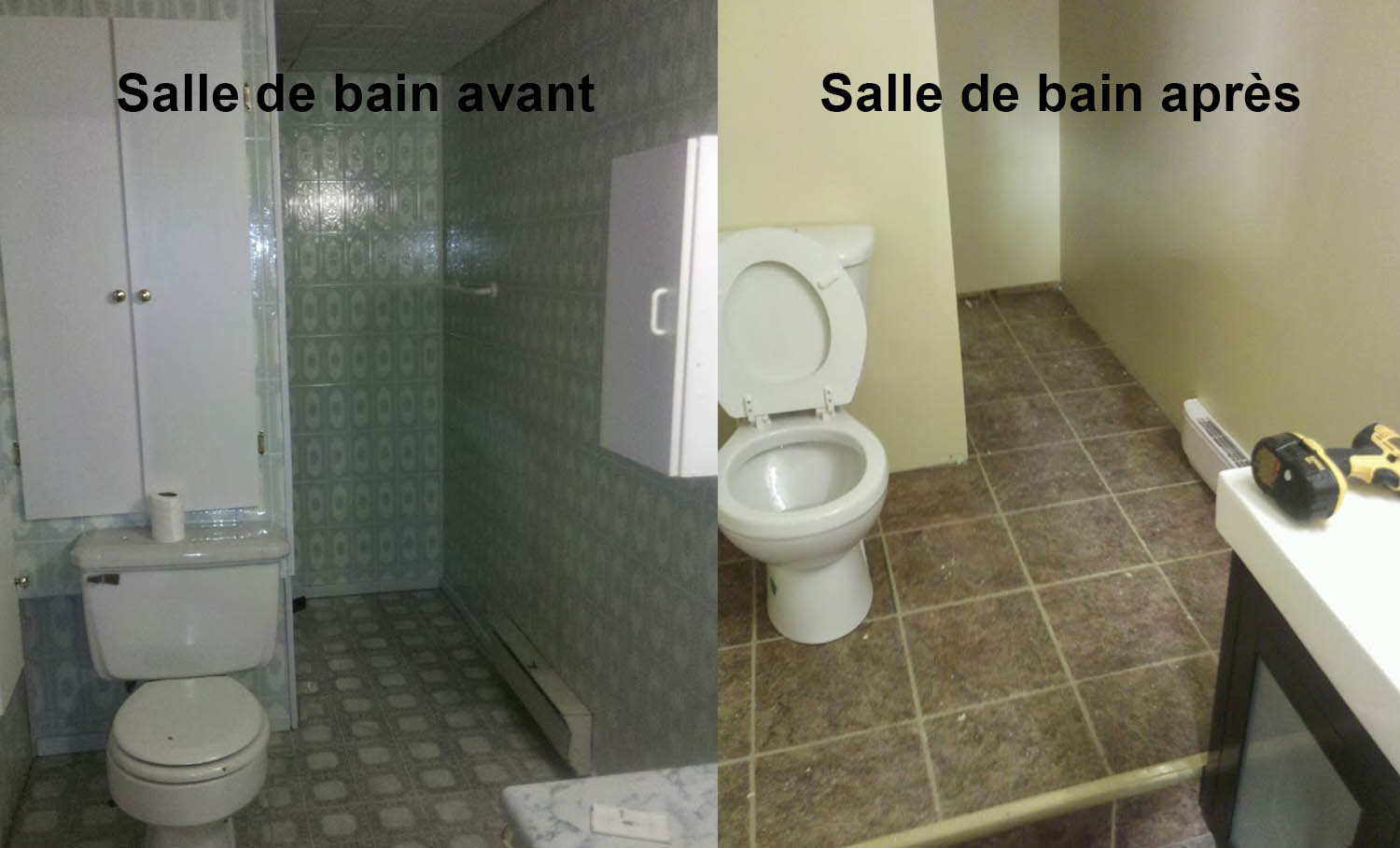 Salle De Bain Avant Apr S Gml Construction